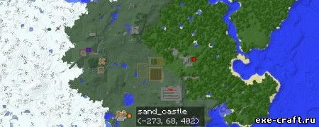 Мод MapWriter Minimap Mod для Minecraft 1.8.3